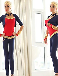New Style Superwoman Blue and Red Adult Women's Halloween Costume