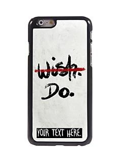 """caixa personalizada nenhum desejo, mas não projetar caixa de metal para iphone 6 (4.7 """")"""