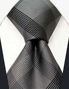 seda negócio de verificação cinza padrão gravata dos homens