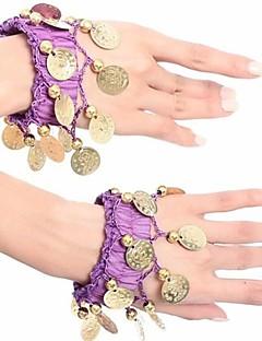 Belly Dance Women's Fashion Coins Chiffon Bracelet Each Piece(More Colors)