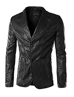 x-man pánské slim volný čas pu kožešinových oděvů oblek