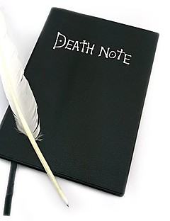 Death Note bok + fjädern skrivar cosplay set