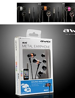 Awei-Q3i High Quality Hi-Fi 3.5mm In-Ear Earphones for MIC for iphone6/6plus (Assorted Colors)