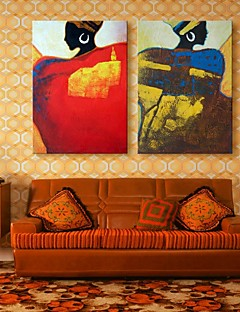 tela donne arte decorazione pittura set di 2