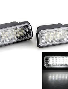 2 peças brancas 18 levou 3.528 lâmpadas da placa de licença número SMD lâmpada lâmpada para benz W203 w211