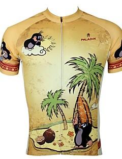 ILPALADINO サイクリングジャージー 男性用 半袖 バイク ジャージー トップス 速乾性 抗紫外線 高通気性 ポリエステル100% アニマル 卡通 春 夏 レジャースポーツ サイクリング/バイク
