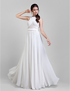 LAN TING BRIDE Floor-length Georgette Convertible Dress Bridesmaid Dress - A-line Plus Size / Petite