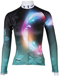 PALADIN® Φανέλα ποδηλασίας Γυναικεία Μακρύ Μανίκι Ποδήλατο Αναπνέει / Γρήγορο Στέγνωμα Αθλητική μπλούζα / Μπολύζες 100% ΠολυέστερΆνθινο /