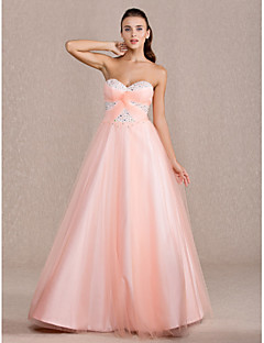 TS Couture® Prom / Formal Evening / Quinceanera / Sweet 16 Dress - Pearl Pink Plus Sizes / Petite Ball Gown / A-line / Princess Sweetheart