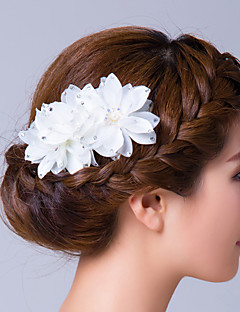 Women's Cubic Zirconia Fabric Headpiece-Wedding Special Occasion Flowers Hair Pin