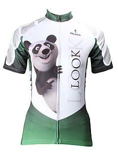 ILPALADINO Cycling Jersey Women's Short Sleeve Bike Breathable Quick Dry Ultraviolet Resistant Jersey Tops 100% Polyester Cartoon Animal