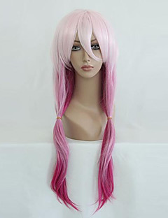 Cosplay Wigs Guilty Crown Inori Yuzuriha Pink Medium Anime Cosplay Wigs 65 CM Heat Resistant Fiber Female