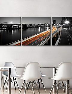 Tela stampa Viadotto di arte di paesaggio allungato Set di 3