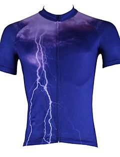 ILPALADINO Cyklodres Pánské Krátké rukávy Jezdit na kole Dres Vrchní část oděvu Rychleschnoucí Odolný vůči UV záření Prodyšné100%