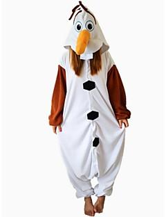 KIGURUMI pyjama Lumiukko Trikoot/Kokopuku Halloween animal Sleepwear Valkoinen Patchwork Polar Fleece Kigurumi Unisex Halloween