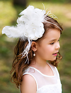 Women's/Flower Girl's Feather Headpiece - Wedding/Special Occasion Flowers