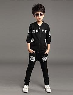 imprimir cabeça personalidade fashion tigre conjunto zíperes esporte roupas de menino