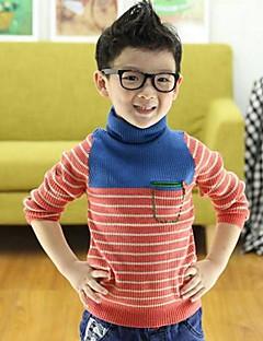 Sweter /  sweter rozpinany Bawełna Prążki Zima Wiosna Jesień Długi rękaw Normalny