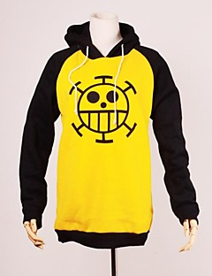 Inspired by One Piece Trafalgar Law Anime Cosplay Costumes Cosplay Hoodies Print Long Sleeve Top For Male