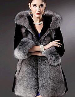 YIFULU Long Sleeve Slim Fashion Temperament Elegance Hoodie Fur Overcoats