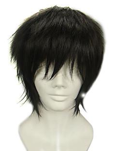 Cosplay Wigs Blue Exorcist Juzo Shima Black Short Anime Cosplay Wigs 30 CM Heat Resistant Fiber Male