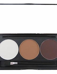 3 cores 3in1 fosco sobrancelha profissional pó / sombra de olho / bronzer maquiagem paleta cosmética com espelho&conjunto aplicador