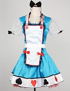 piuttosto poker alice blu terylene uniformi cosplay cameriera