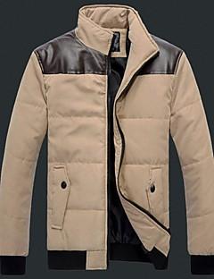 pánské rameno s koženým bavlny kabát