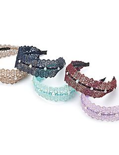 1PC Korean Pearls and Flowers Lace Headband(Random Color)