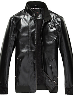 RIQI Men's New Fall Winter Leather Coat L2045