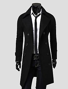 Иван мужской корейской моды зима причинная тонкий шерстяное пальто
