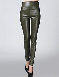 Women PU Pants , Fleece Lining