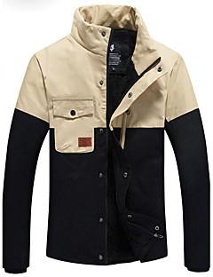 Dibai Herrenmode Freizeitkontrastfarbe versehen Mantel