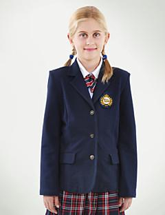 темно-два кармана пиджак школьной формы для девочек