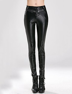 Incern®Women's High Waist Stretchy Fitted Leather Trousers