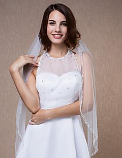 Wedding Veils One Tier Bead Edge