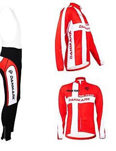 KOOPLUS® Cycling Jersey with Bib Tights Women's / Men's / Unisex Long Sleeve BikeBreathable / Thermal / Warm / Fleece Lining / Waterproof