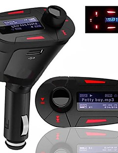 Автомобиль набор MP3 Player FM Transmitter LCD Backlight Display с дистанционным управлением USB SD MMC Slot