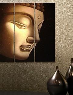 e-Home® allungata tela arte del buddha set pittura decorativa di 3