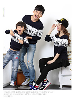 Long Sleeve Cotton Blend/Polyester Family Clothing Sets , Winter/Fall Sweater & Cardigan