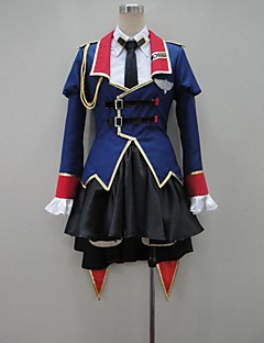 Inspired by Code Gease Reira Markale Anime Cosplay Costumes Cosplay Suits Patchwork Blue Long SleeveCoat / Blouse / Shirt / Skirt /