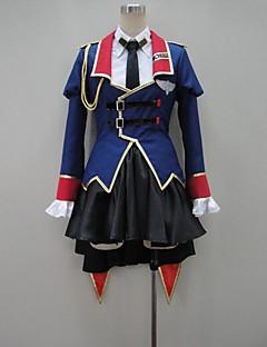 Inspirovaný Kód Gease Reira Markale Anime Cosplay kostýmy Cosplay šaty Patchwork Niebieski Dlouhé rukávyKabát / Halenka / Tričko / Sukně