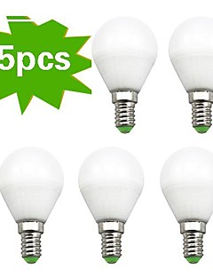 5 pcs H+LUX™ E14 7 W 18 SMD 2835 450 LM Warm White G Globe Bulbs AC 220-240 V