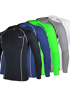ARSUXEO® Cycling Jersey Men's Long Sleeve BikeBreathable / Quick Dry / Anatomic Design / Antistatic / Compression / Lightweight Materials