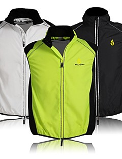WOLFBIKE Cycling Jacket Unisex Sleeveless BikeBreathable Quick Dry Windproof Front Zipper Lightweight Materials Reflective Strips Back
