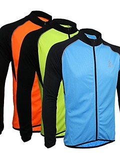 ARSUXEO® Cycling Jersey Men's Long Sleeve Bike Breathable / Quick Dry / Anatomic Design / Front Zipper Jersey / TopsPolyester / 100%