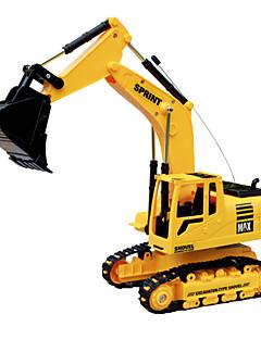 DZD 3823 escavação engenharia carro rc controle remoto caminhão de brinquedo escavadeira com som luz