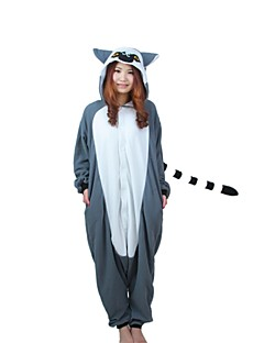 Kigurumi Pajamas Monkey Leotard/Onesie Festival/Holiday Animal Sleepwear Halloween Patchwork Polar Fleece Kigurumi For UnisexHalloween