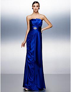 Fiesta de baile/Fiesta formal Vestido - Azul Real Corte Recto Hasta el Suelo - Tirantes Satén Elástico