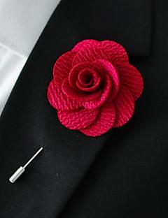 χειροποίητο κόκκινο πολυεστέρα πέτο λουλούδια μπουτονιέρα ανδρών
